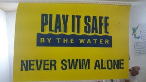 Never swim alone.. it's okay to be supported
